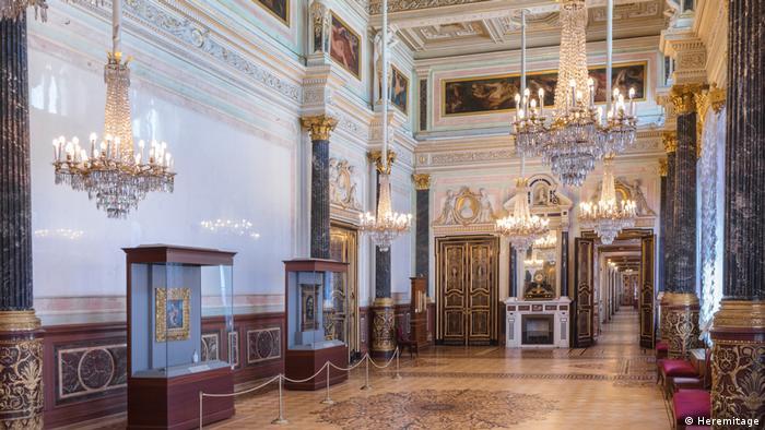 Sala do museu Eremitage de São Petersburgo