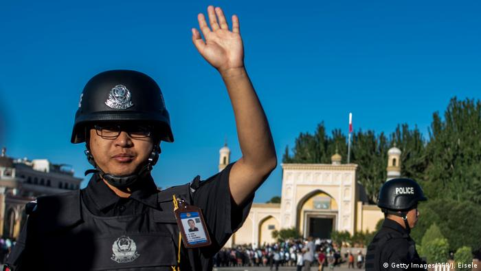 China Polizei in Xinjiang