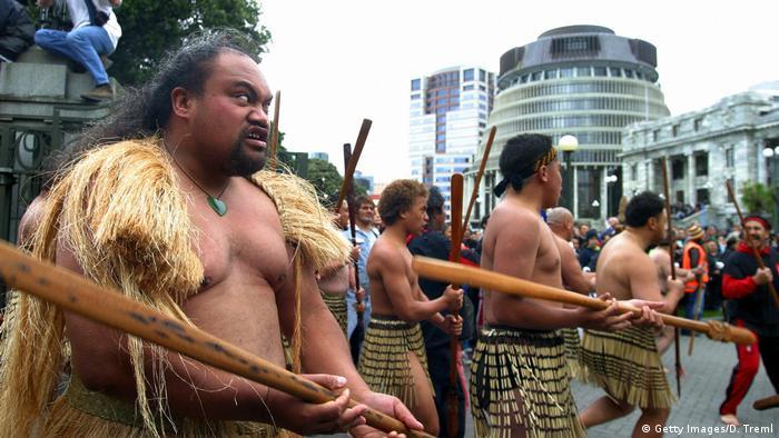 Maori Wellington Beehive Gebäude Parlementsgebäude (Getty Images/D. Treml)