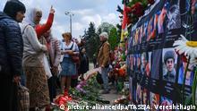 Ukraine Odessa - Gedenkfeier der Brandopfer vom Kulykove Pole 2014