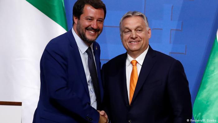 Маттео Сальвини и Виктор Орбан (слева направо)