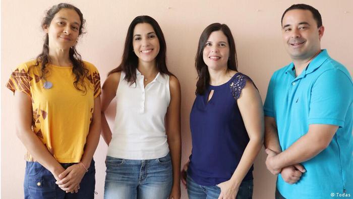Das Team von Journalisten der puerto-ricanischen feministischen Zeitschrift Todas
