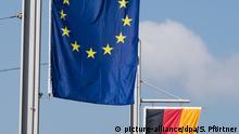 Flaggen von Europa und Deutschland