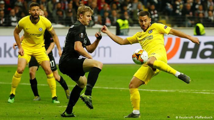 Europa League: Eintracht Frankfurt hold on for draw against Chelsea