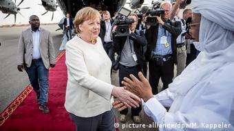 Niger Kanzlerin Merkel auf Afrikareise | Merkel und Premierminister Brigi Rafini