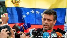 Venezuela Caracas Leopolo Lopez vor der spanischen Botschaft