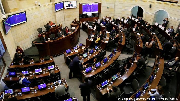 Foto simbólica del Senado de Colombia en plenaria