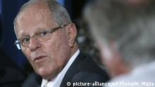09.03.2017 CORRECTS SPELLING OF KUCZYNSKI - FILE - In this March 9, 2017 file photo, Peru's President Pedro Pablo Kuczynski listens to a question during a press conference in Lima, Peru. A judge in Peru on Wednesday, April 10, 2019, ordered the detention for 10 days of Kuczynski as part of a money laundering probe into his consulting work for Brazilian construction giant Odebrecht, at the heart of Latin America's biggest graft scandal. (AP Photo/Martin Mejia, File) |