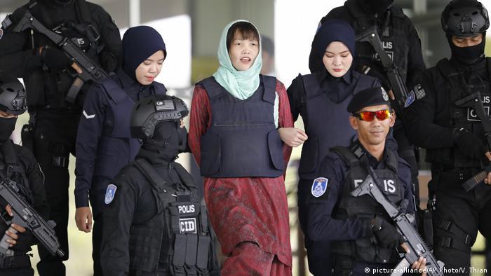 Malaysia Doan Thi Huong verlässt Gericht