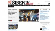 Screenshot Kroatien Sibenik News