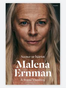 Book cover of the Swedish original that shows Greta's mothe Scener ur hjärtat Malena Ernman, Svante Thunberg