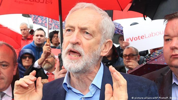 Líder do Partido Trabalhista britânico, Jeremy Corbyn