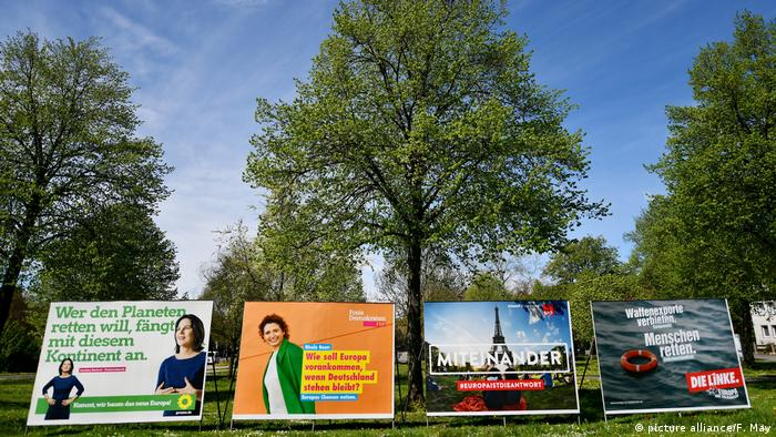 Billboards for the 2019 EU vote (picture alliance/F. May)