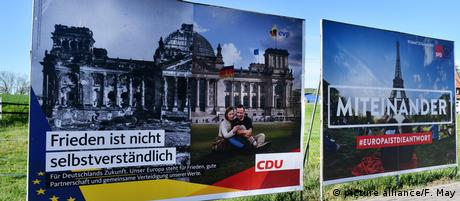 Wahlplakate Europawahlen 2019 (picture alliance/F. May)