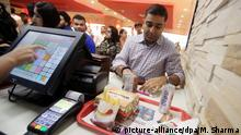 Indien Burger King-Restaurant in Neu Delhi