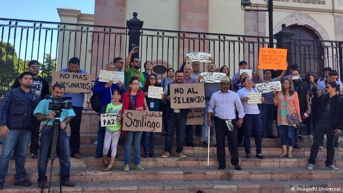 Protest after the murder of Santiago Barroso Alfaro