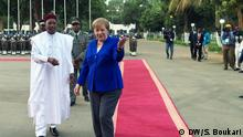 Niger Besuch Angela Merkel mit Präsident Mahamadou Issoufou in Niamey