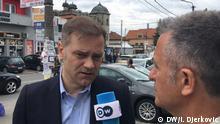 Borko Stefanovic serbischer Politiker im DW Interview