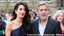 People's Postcode Lottery Gala in Edinburgh George und Amal Clooney