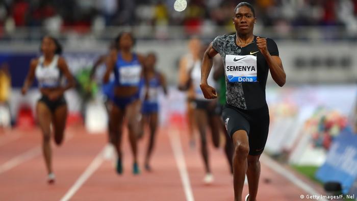Caster Semenya aus Südafrika läuft 800 Meter während der IAAF Diamond League im Khalifa International Stadium