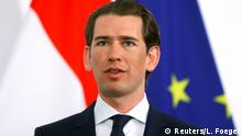 Premier of the German state of Bavaria Markus Soeder (not pictured) and Austrian Chancellor Sebastian Kurz address the media in Vienna, Austria May 3, 2019. REUTERS/Leonhard Foeger