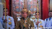 04.05.2019 This screengrab from Thai TV Pool video taken on May 4, 2019 shows Thailand's King Maha Vajiralongkorn as he was crowned during his coronation in Bangkok. (Photo by Thai TV Pool / THAI TV POOL / AFP) (Photo credit should read THAI TV POOL/AFP/Getty Images)