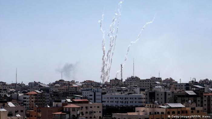 Ракеты в секторе Газа, пущенные 4 мая 2019 года по направлению к Израилю