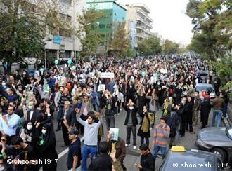 تظاهرات معترضان به نتایج انتخابات خرداد ۸۸ در تهران