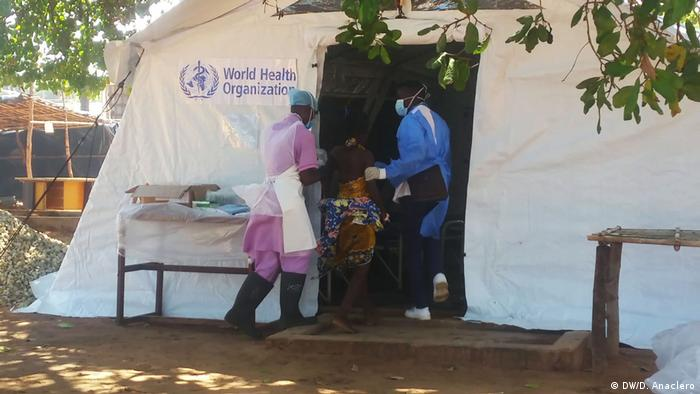 Mosambik - Cholera-Behandlungszentrum in Pemba (DW/D. Anaclero)