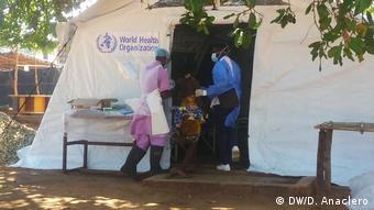 Mosambik - Cholera-Behandlungszentrum in Pemba