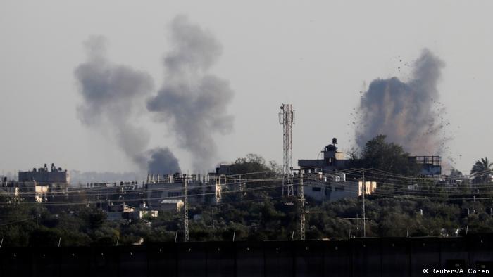 Дым над сектором Газа, 4 мая 2019 года