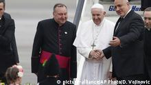 Bulgarien Besuch von Papst Franziskus Ministerpräsident Borissow