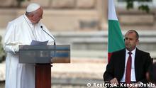 Bulgarien Besuch von Papst Franziskus und Präsident Rudev