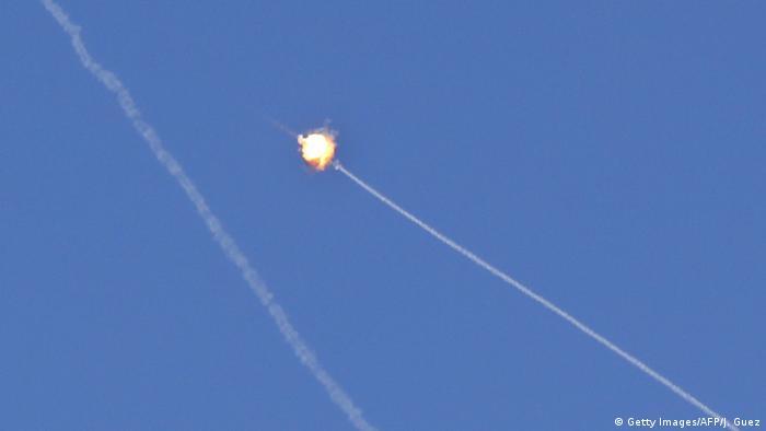 Israel Gaza l Raketenangriffe Abwehrsystem über Netiv Haasara