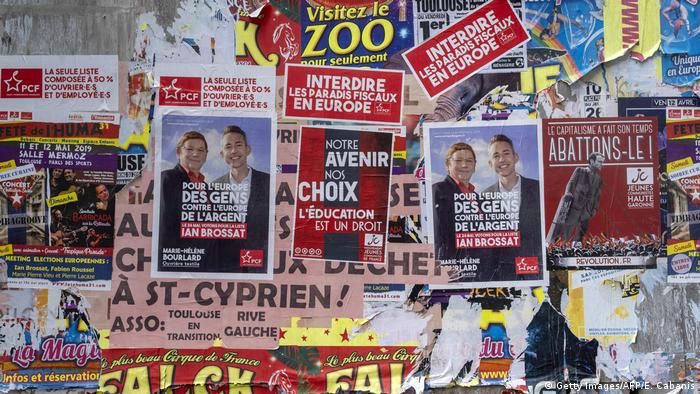 French European election posters