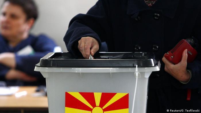 Stichwahl in Nord-Mazedonien Wahllokal (Reuters/O. Teofilovski)