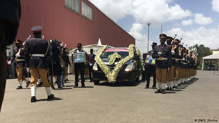 Äthiopien - Abschied für Negasso Gidada in Addis Abeba