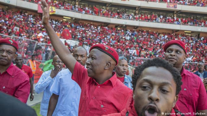 Südafrika - Wahl / Vorsitzender der Partei für wirtschaftliche Freiheitskämpfer (EFF), Julius Malema