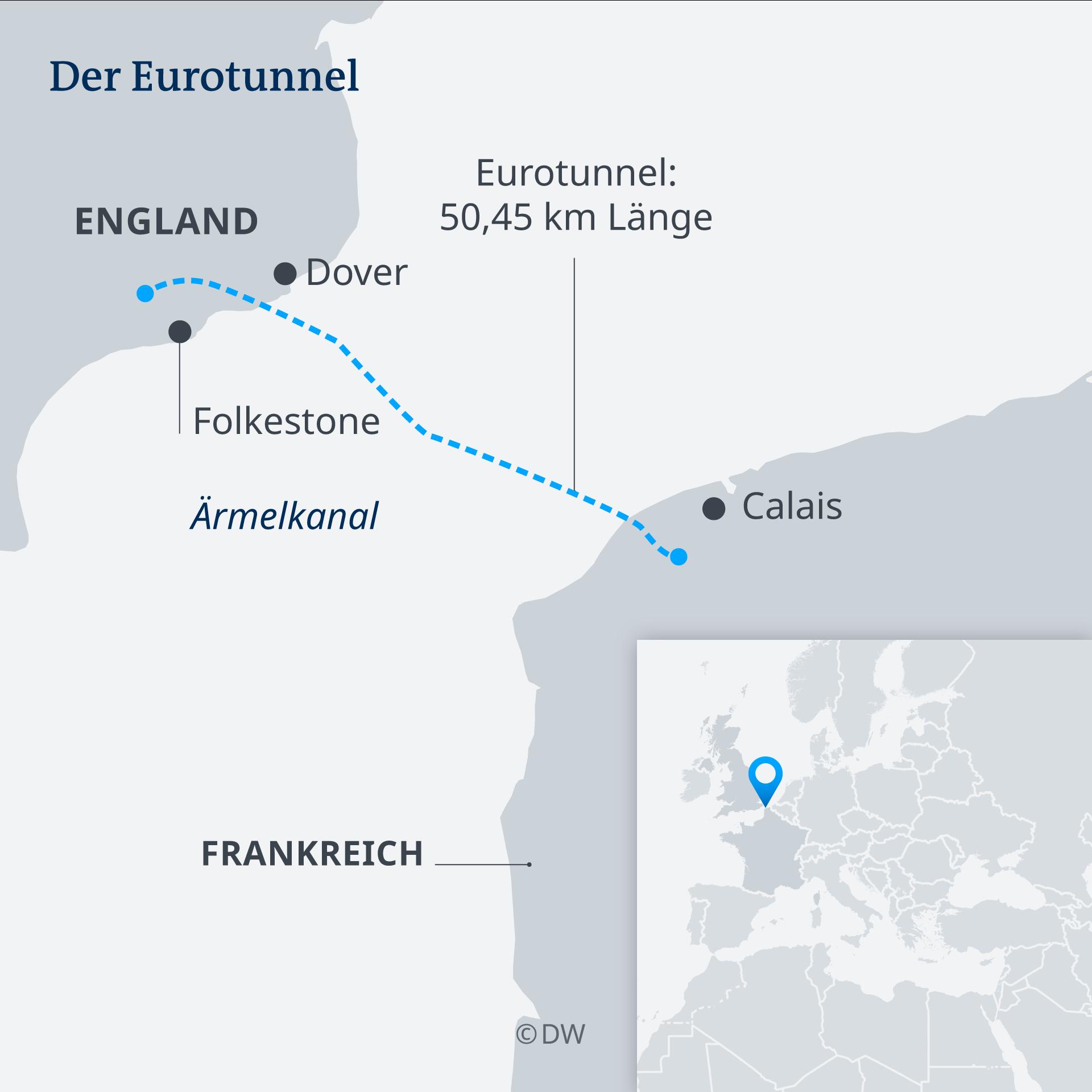 Infografik Karte Der Eurotunnel DE