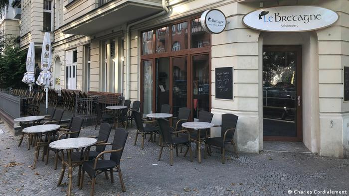 La Bretagne exterior with tables and chairs (Charles Cordialement)
