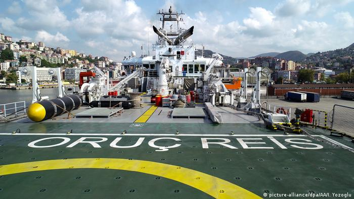 Türkei | seismisches Forschungsschiff | Öl-Gasbohrungen | MTA Oruc Reis (picture-alliance/dpa/AA/I. Yozoglu)