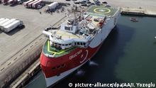 Türkei   seismisches Forschungsschiff   Öl-Gasbohrungen   MTA Oruc Reis