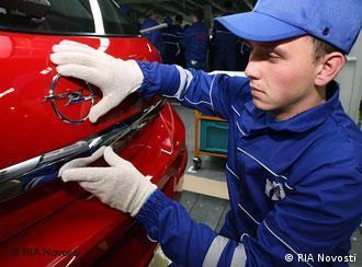 На заводе Opel в Калининграде