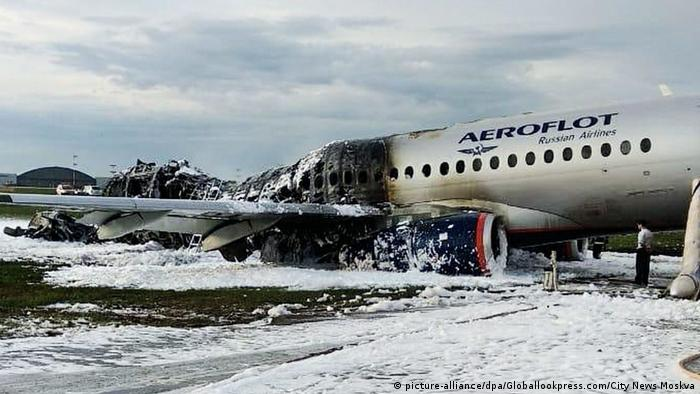 Accidente de Aeroflot en Moscú. (picture-alliance/dpa/Globallookpress.com/City News Moskva)
