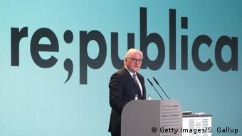 re:publica 2019 | Internetkonferenz in Berlin, Deutschland | Frank-Walter Steinmeier, Bundespräsident (Getty Images/S. Gallup)