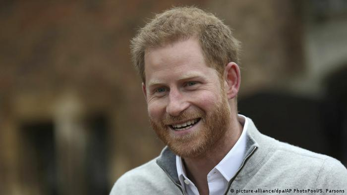 Prince Harry spoke to the media in Windsor on Monday afternoon