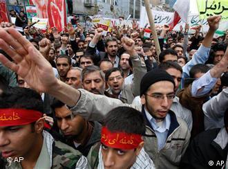 یک تظاهرات حکومتی (عکس از آرشیو)