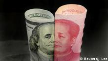 USA China l Handelsstreit l Banknoten - Dollar und Yuan (Reuters/J. Lee)