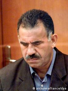 Öcalan during his trial in 1999