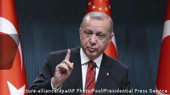 Turkish President Recep Tayyip Erdogan (picture-alliance/dpa/AP Photo/Pool/Presidential Press Service)